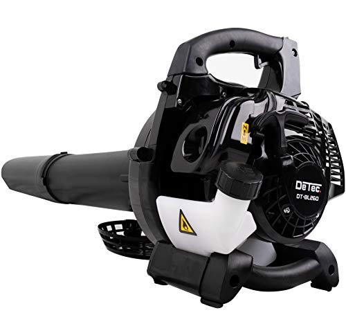 DeTec. 2-in-1 Benzin Laubsauger & Laubbläser DT-BL260 mit Fangsack, Tragegurt und Griff inkl. praktischem Häcksler mit Geschwindigkeitsregler Benzinmotor